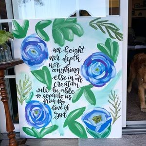 Large Hand Painted Bible Verse